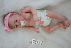 22'' Reborn Baby Girl Doll Full Body Silicone Vinyl Newborn Dolls Lifelike GIFT