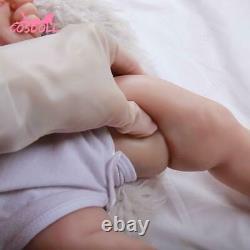 23inch 57cm 4.7kg Reborn Baby Doll Girl Full Body 100% Silicone Toys Toddler