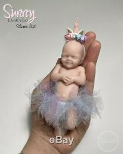 5 Full Body Silicone Baby Girl Blank Doll Kit Miniature Silicone Reborn Doll