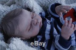 Adorable Reborn baby doll boy Max Sculpt 14'' premie anatomically correct