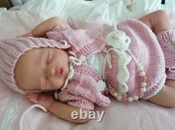 Amazing Reborn Baby Doll Brin brandneu Lisa Sylvia girl sweet ohne Bauchplatte