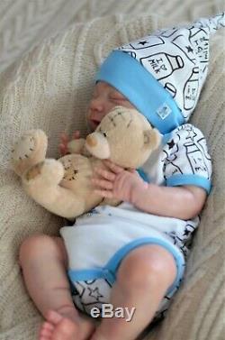 April baby reborn doll, realistic artist Olga Konovnina, cute babies