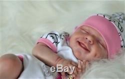 April reborn doll baby, reborn artist Olga Konovnina, sweet babies