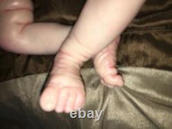 Asher Realborn asleep 3/4 limbs combo hair