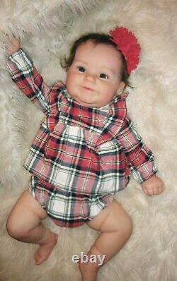 BEAUTIFUL MADDIE BY BONNIE BROWN Rooted hair Blue eyes Doll Reborn Baby 8lbs 23