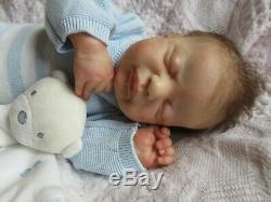 BEAUTIFUL Reborn Baby BOY Doll AMERICUS by LAURA LEE EAGLES Full Limbs