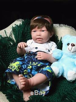 Baby Boy Real Reborn Doll Clothing Berenguer 17 inches Soft Vinyl Life Like