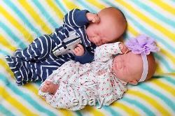 Baby Twins Boy Girl Doll Berenguer 14 Alive Real Soft Vinyl Preemie Lifelike