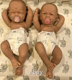 Baby Twins Reborn Doll Berenguer 14 PREEMIE Vinyl Preemie LifeLIKE GIRL/ GIRL