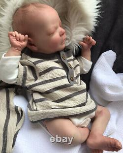 Beautiful Sleeping REBORN BABY DOLL. Finn