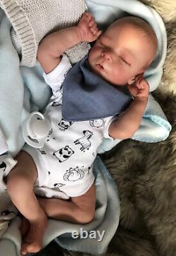 Beautiful Sleeping REBORN BABY DOLL. Milo