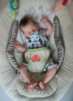 Beautiful reborn baby boy TAVI by Marita Winters lifelike newborn doll