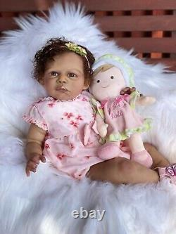 Biracial Reborn Baby Doll Gabygail Awake By Claire Taylor