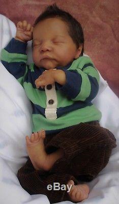 Biracial Reborn baby doll AA reborn baby Boy doll Levi by Bonnie Brown Lifelike
