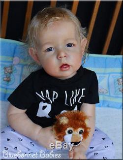 Bluebonnet Babies Reborn Dolltoddler Blonde Boy Liam By