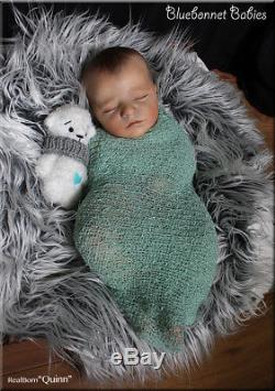 Bluebonnet Babies REBORN Sleeping Newborn Baby Doll RealBorn Quinn Asleep