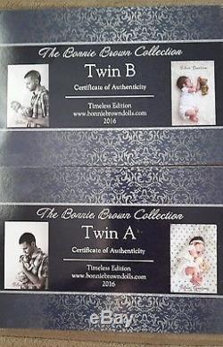 Bonnie Brown Twin A And B Reborn Baby Dolls Twins