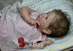 Bonnies Babies CUSTOM Reborn Bonnie Brown Saskia Free US Shipping