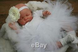 Butterfly Babies Reborn Baby Doll Fake Baby Girl White Tutu Molly
