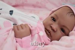 COMPLETED Reborn Biracial SHYANN ooak lifelike Baby vinyl ARTIST doll PETERSON