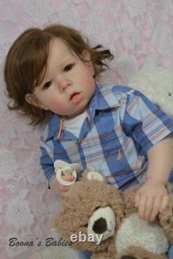 CUSTOM ORDER Reborn Doll Toddler Boy or Girl Liam by Bonnie Brown- Human Hair