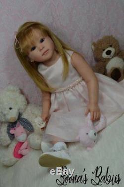 CUSTOM ORDER Reborn Doll Toddler Girl Luca By Ping Lau Human Hair Glass Eyes