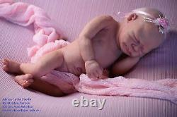 CUSTOM ORDER Silicone baby doll full body Africa with light blond rooting hair