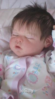 Custom Bespoke ARIELLA NOAH made reborn newborn fake baby life doll silicone