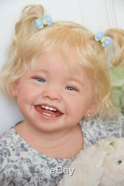Custom Order Mila by Ping Lau Reborn Doll Baby girl or boy Human or Mohair