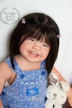 Custom Order Mila by Ping Lau Reborn Doll Baby girl or boy Human or Mohair