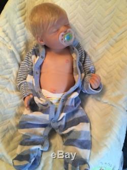 Custom made reborn newborn fake baby lifelike doll silicone vinyl full body elsa