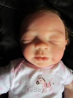 Dakota #1 by Angela Lewis Full Body Siliocone sleeping Female Doll