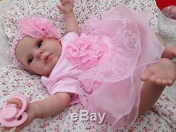 Donna Rubert Honey Reborn Baby Doll Soft Silicone Vinyl, Choose Your Eyes