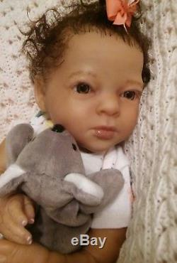 Ethnic Biracial Realborn Elizabeth Awake Baby Reborn Doll SALE