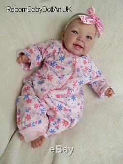 Eyes Open Happy Reborn Baby Girl Doll by RebornBabyDollArtUK