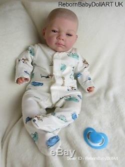 Eyes Open Reborn Baby BOY Doll by #RebornBabyDollArtUK