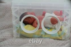 FULL BODY Miniature SILICONE BABY boy with incubator
