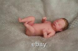 FULL BODY Miniature SILICONE BABY girl with incubator
