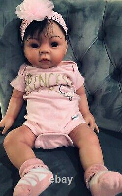 Full Body Silicone Baby Girl 7lbs 20in hand painted ooak