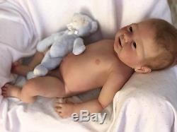 Full Body Silicone Reborn Baby Doll Alexie by Elena Westbrook