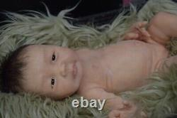 Full Body Soft Solid Silicone Baby doll/REBORN SILICONA fluidsinner sealed hair