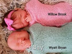Full Silicone Baby Wyatt Or Willow With Rooted Hair (Biracial Option Available)