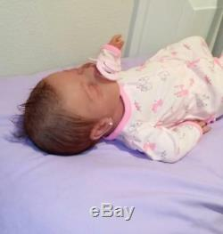 Full Silicone Painted 19 Baby Girl Kenzley With Rooted Hair