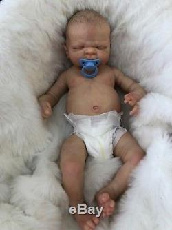 Full Vinyl Childrens Reborn Doll Baby Boy Maddox Realistic 22 Painted Hair
