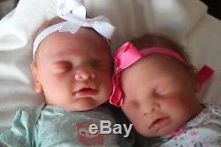 Full body silicone reborn baby doll anatomically correct TWINS girls 18 custom