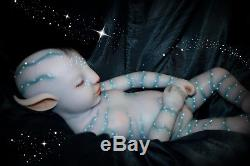 Full silicone 20 AVATAR reborn baby doll anatomically correct girl custom