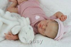Gorgeous Reborn Baby Doll Twin B by Sculpted by Bonnie Brown with Painted Hair
