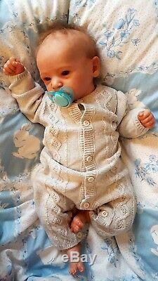 Grayson Bonnie Brown Reborn Baby Doll Ltd Edition Htf