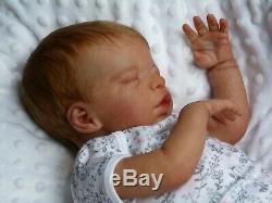 HANLEY reborn doll realistic baby Khloe Marie limited edition rooted hair GHSP