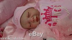 Hand Painted Real Reborn Baby Girl Doll / Gift Ce Safe Silicone V Sunbeambabies